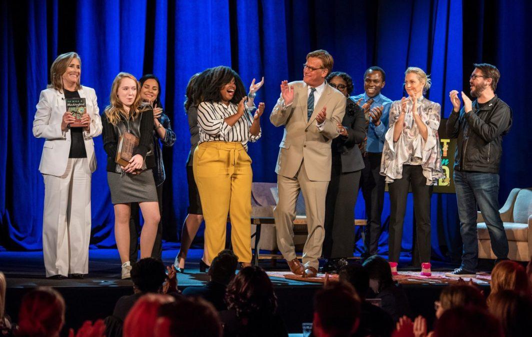 Meredith Vieira - Diana Gabaldon - Eliyannah Yisrael - Aaron Sorkin - LaTanya Richardson Jackson - Gbenga Akinnagbe - Ali Wentworth - Wil Wheaton - Stephanie Berger/PBS