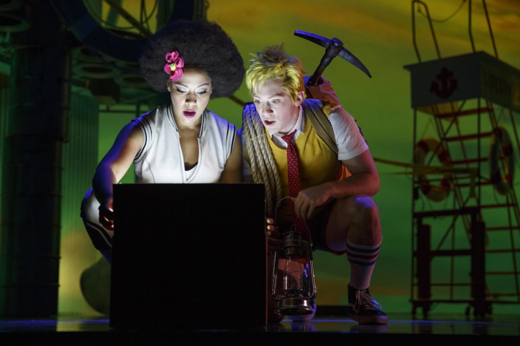 Lilli Cooper - Ethan Slater - 2016 -SpongeBob Musical - Oriental Theatre - Joan Marcus