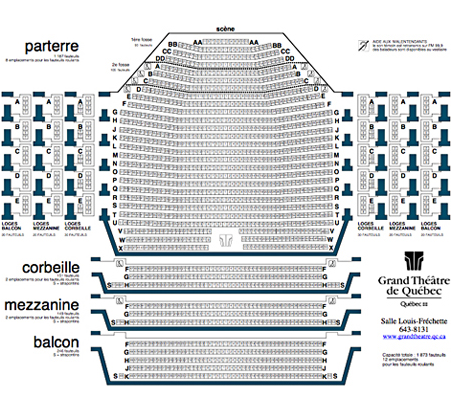 Grand Theatre Seating Chart